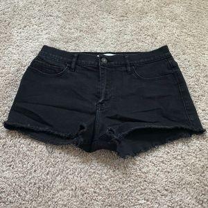 A&F Black Jean Short Cutoffs